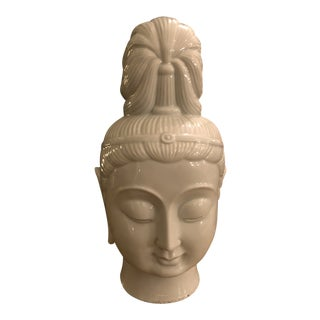 Large Guanyin Blanc De Chine Head For Sale