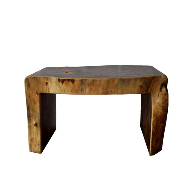 Boho Chic Acacia Coffee Table For Sale - Image 4 of 10
