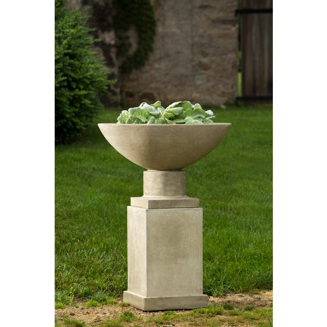 Contemporary Dauphine Planter & Pedestal For Sale - Image 3 of 3