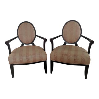 Barbara Barry for Baker Furniture X Back Lounge Chairs - a Pair For Sale