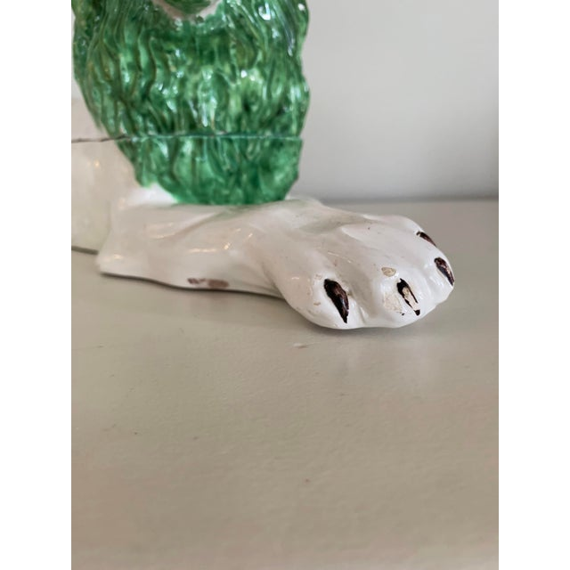 Mid-Century Italian Ceramic Lion Lidded Catchall For Sale In Boston - Image 6 of 10