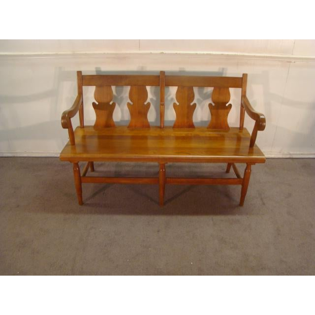 Stickley Solid Cherry Settee or Bench For Sale - Image 9 of 9