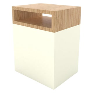 Contemporary 101 Side Table in White by Orphan Work, 2019 For Sale