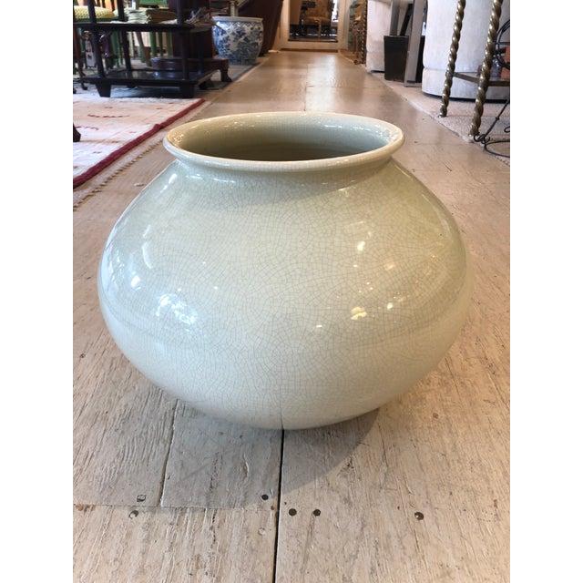 Light Green Large Mid Century Modern Bitossi Vase Vessel For Sale - Image 8 of 8