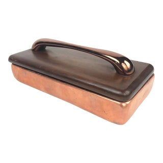 Ben Seibel Lidded Copper Box With Handle For Sale