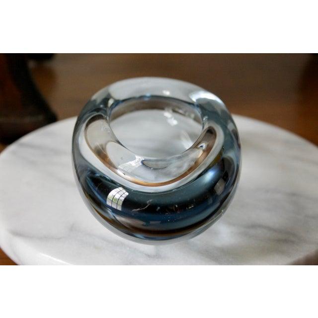 Glass Holmegaard Light Blue Danish Modern Glass Dish by Per Lutken For Sale - Image 7 of 11