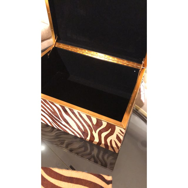 Contemporary Maitland Smith Hide Ride Boxes - a Pair For Sale - Image 3 of 7
