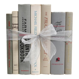 Midcentury Book Gift Set: Granite Cookbooks, S/7