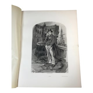 1892 Antique Character From a Charles Dickens's Novel Potogravure Print For Sale