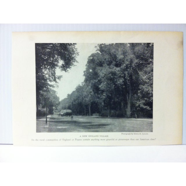 "This is an Antique National Geographic Print on Paper that is titled ""A New England Village"". The Print was Published by..."