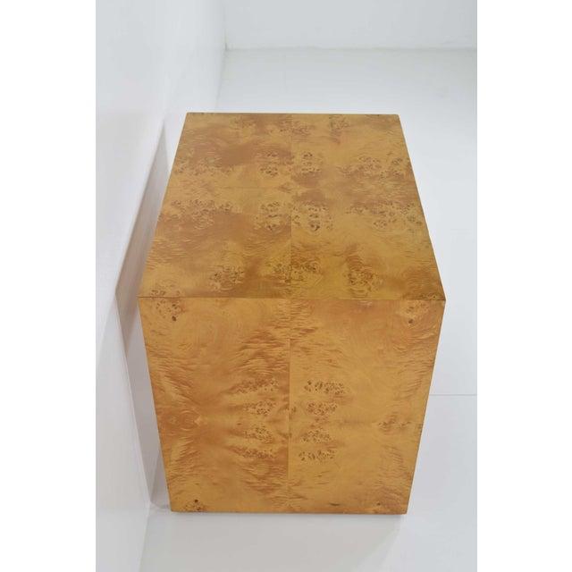 1970s 1970s Milo Baughman Burl Wood Side Table For Sale - Image 5 of 12