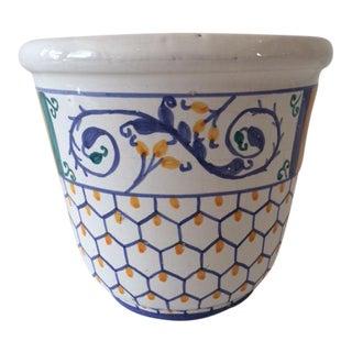 Vintage Hollywood Regency Pottery Cachepot For Sale