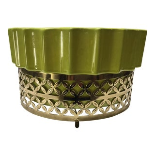 Mid-Century Modern Lime Green Tv Lamp For Sale