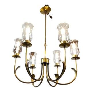 Norman Grag Vintage Six Light Chandelier For Sale