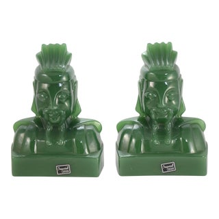 1950s Green Jade Glass Imperials - a Pair For Sale