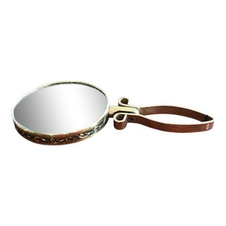 Antique Japanese Dual Sided Hand Mirror For Sale
