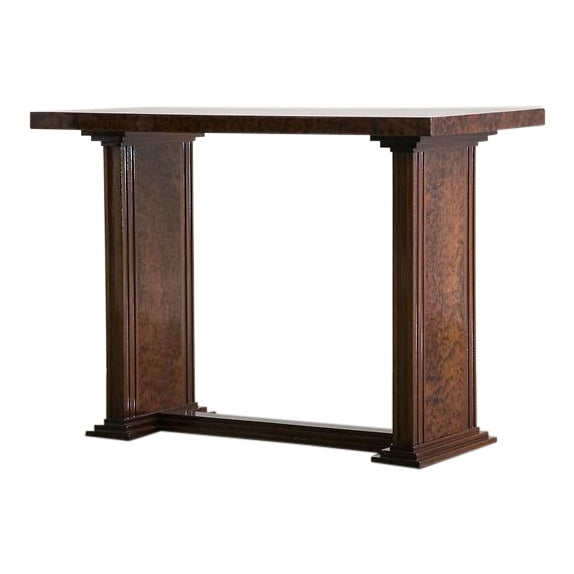 Art Deco French Bird's Eye Maple Console Side Table circa 1930 For Sale