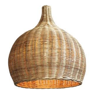 Raw Wicker Bell Lantern Small For Sale
