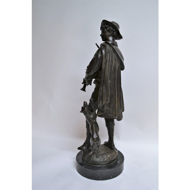 Antique Bronze of Scottish Highlander With Bagpipes For Sale - Image 4 of 5