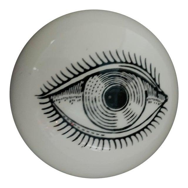 1960s Piero Fornasetti Surrealist Ceramic Eye Eyeball Paperweight For Sale