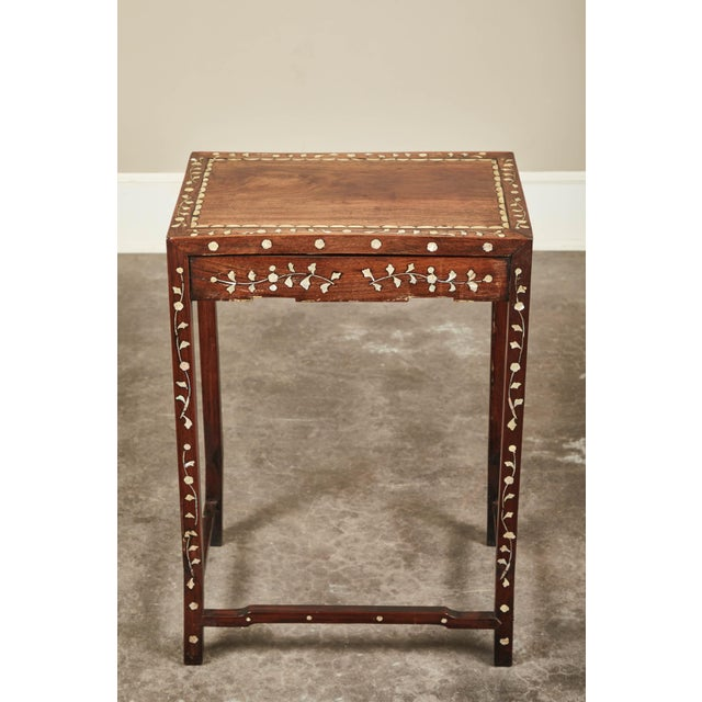 Asian 19th C. Side Table With Mother-Of-Pearl Inlay For Sale - Image 3 of 8
