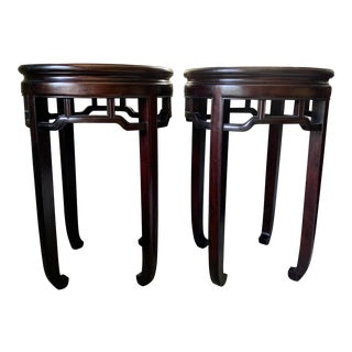 Asian Rosewood High Tables - a Pair For Sale