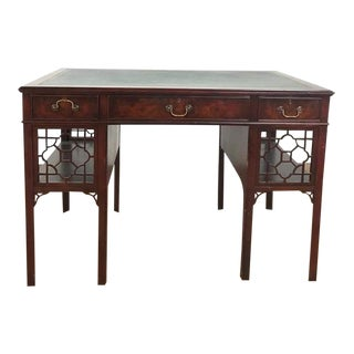 Robert Irwin Chippendale Style Wood Desk