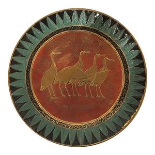 Vintage Egyptian Revival Ceramic Plate For Sale