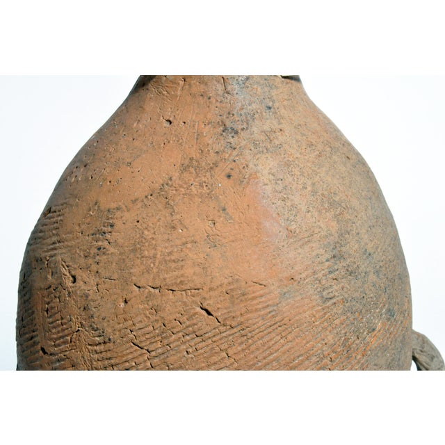 Ceramic Neolithic Jar on Stand For Sale - Image 7 of 13