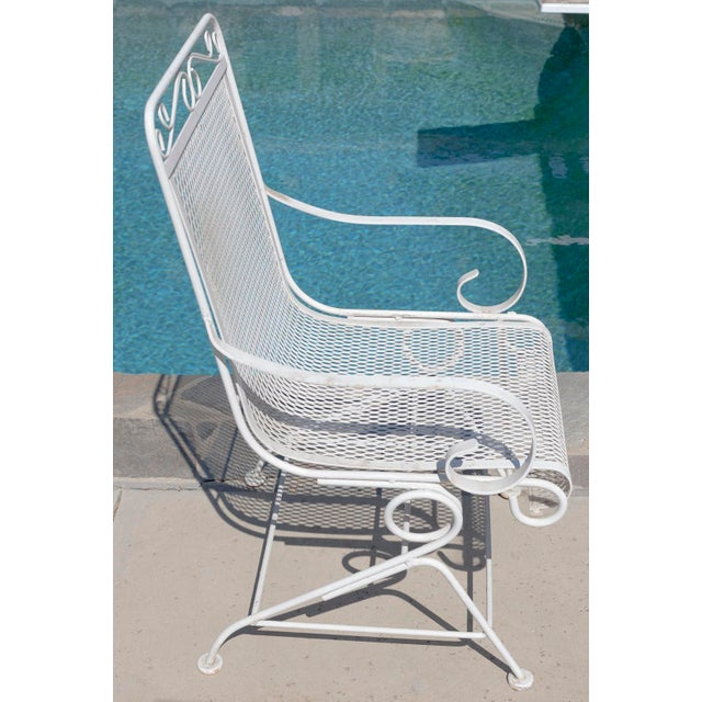Vintage Patio Mesh Table & Bouncer Chairs - S/5 - Image 4 of 7
