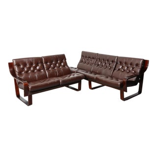 Vintage Sectional Sofa Suite For Sale