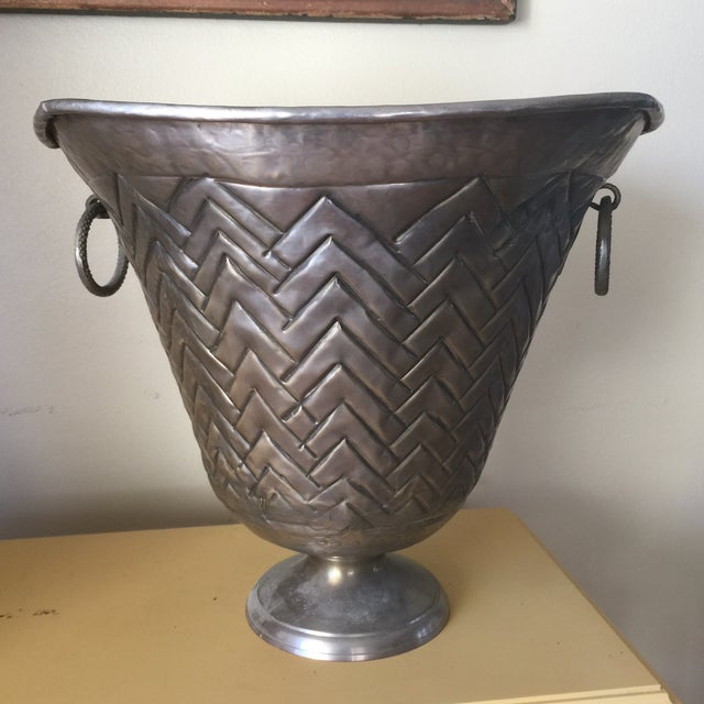 Engraved Metal Vessel Ice Bucket - Image 2 of 10