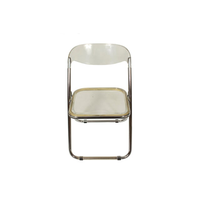 Italian Mid-Century Lucite Folding Chairs - Set of 4 For Sale - Image 4 of 9