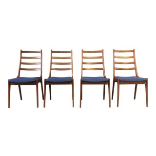 Set of 4 Danish Dining Chairs by Kai Kristiansen for k.s. For Sale