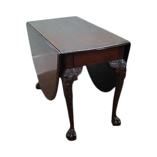 Antique George III Mahogany Drop Leaf Table For Sale