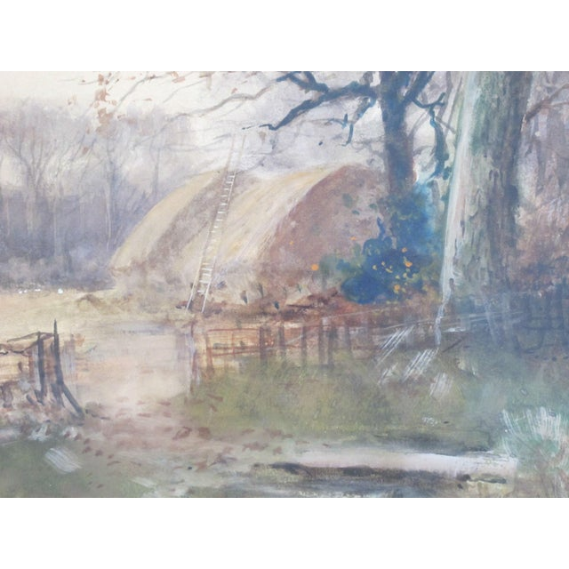 Antique English Landscape Equestrian Watercolor Painting by Charles Henry Fox For Sale - Image 4 of 10