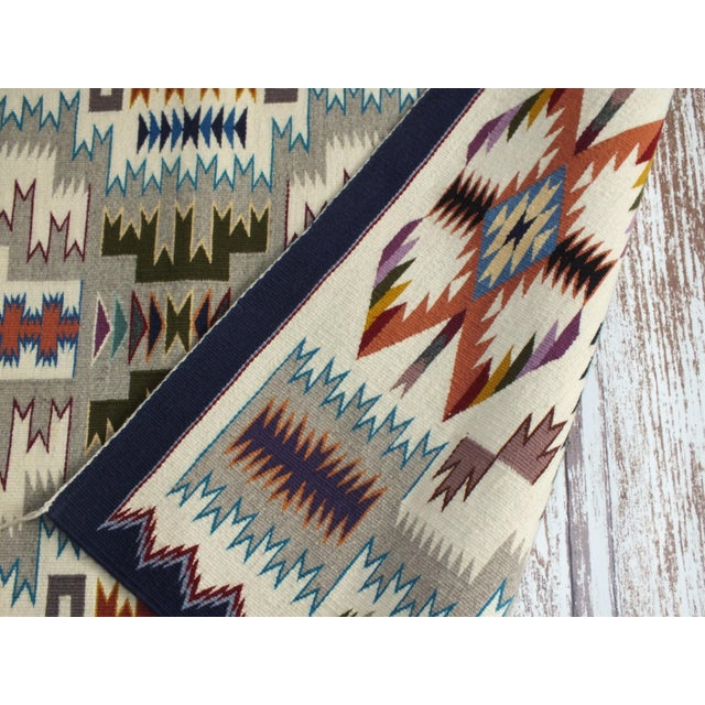 """Navajo Rug Storm Pattern, Lily Touchin -- 2'10"""" x 4'2"""" For Sale - Image 4 of 10"""