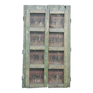 Vintage Orissa Painted Double Door
