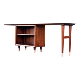 1960s Mid-Century Modern Bookcase/Writing Desk For Sale
