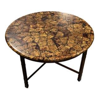 2000s Kreiss Coconut Shell Cocktail Table For Sale