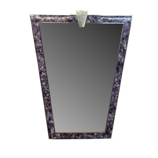 Michaela Amethyst Mirror by MarGian Studio For Sale
