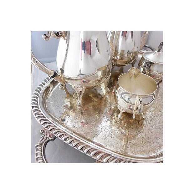Vintage Five-Piece Silver Plate Tea & Coffee Set - Image 3 of 7