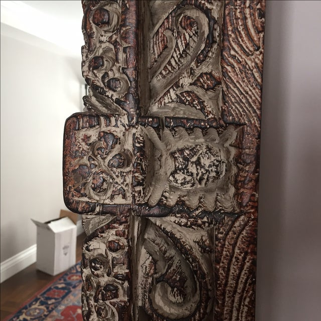 South Asian Style Faux Wood Mirror - Image 4 of 5