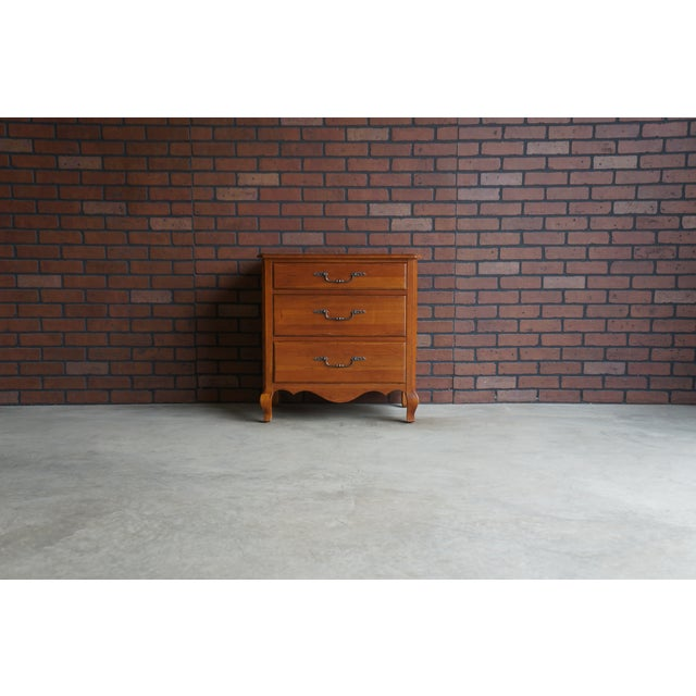 1990s 2000s French Ethan Allen Maison Nightstand For Sale - Image 5 of 5