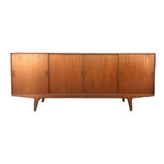 Danish Modern Teak Sideboard With Sliding Doors, 1960s For Sale