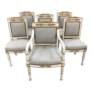 Set of 6 19th Century French Empire Chairs For Sale