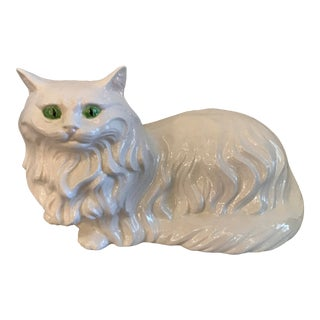 Vintage Ceramic Persian Cat For Sale