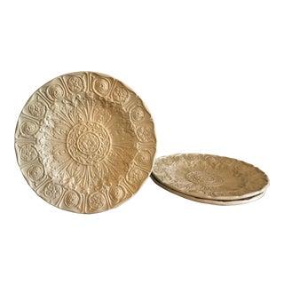 Circa 1800s English Drabware Plates - Set of 3 For Sale