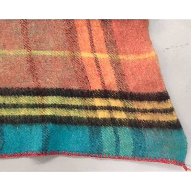 Mid-Century Plaid Whip Stitched Camp Blanket - Image 6 of 6