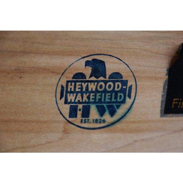 1957 Vintage Heywood Wakefield Mid-Century Cadence 6 Drawer Dresser & Mirror For Sale - Image 10 of 10